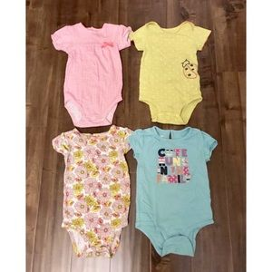 Lots of 4 baby girl onesie Size 24 months